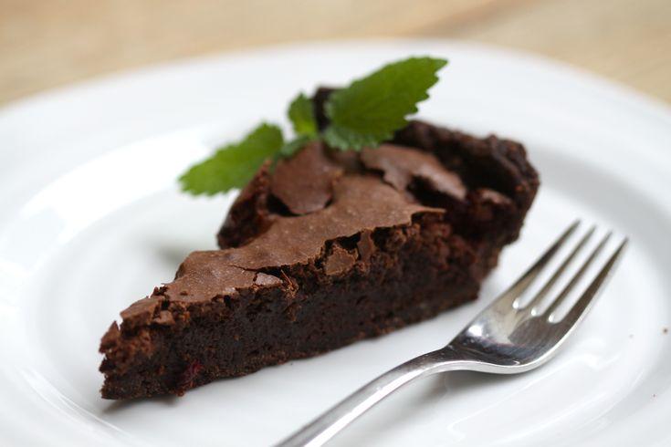 czekoladowo-czekoladowa z malinami