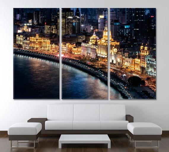 Shanghai Wall Art China Canvas Print Bund Home Decor