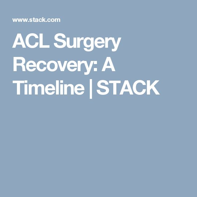 ACL Surgery Recovery: A Timeline | STACK