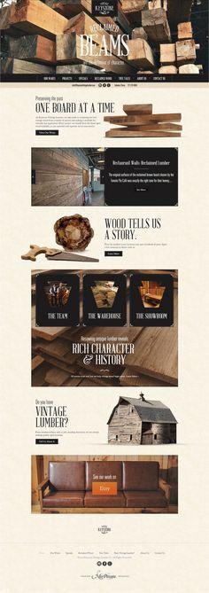 Unique Web Design, Keystone Vintage Lumber #Web #Design #Vintage