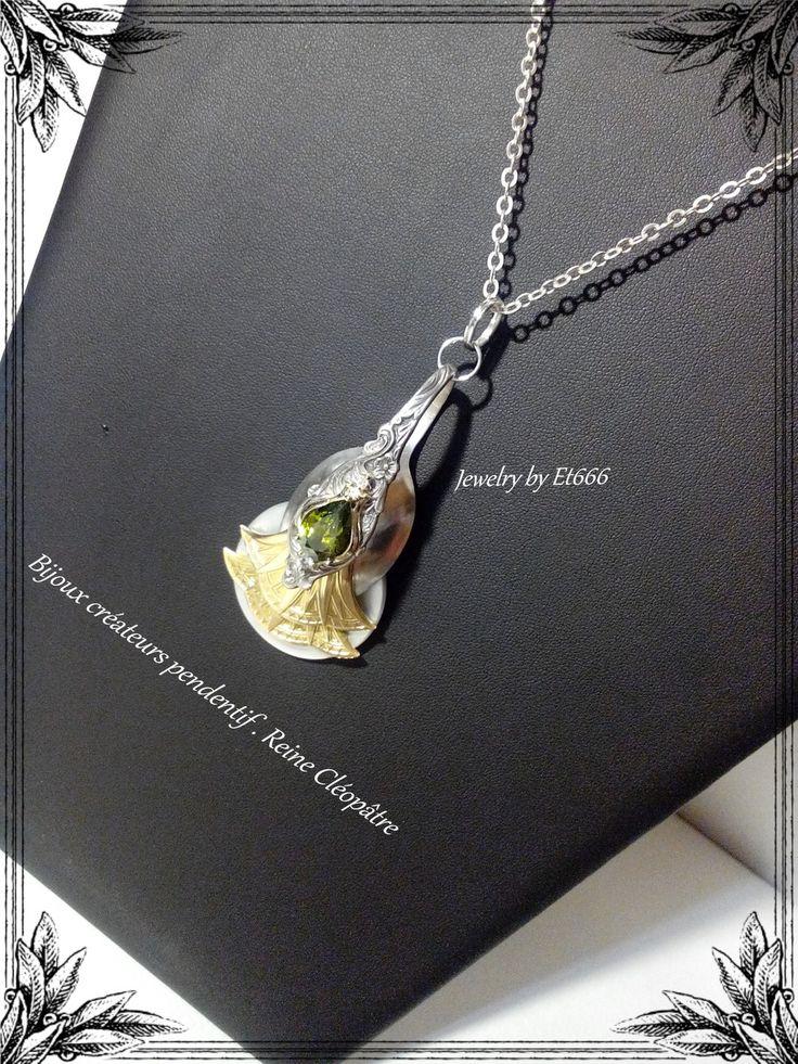 Bijoux créateurs pendentif . Reine Cléopâtre : Pendentif par et666