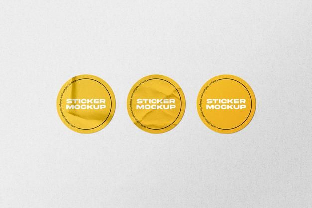 Download Round Sticker Mockup For Free In 2021 Mockup Stickers Round Stickers