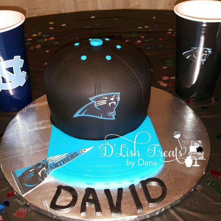 Carolina Panthers Hat Cake