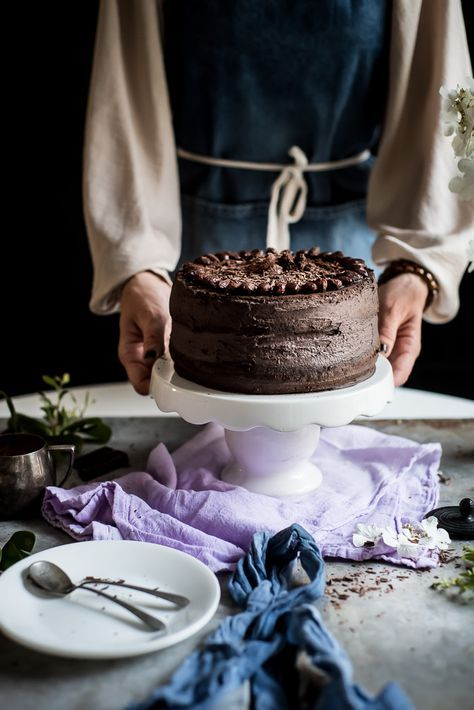 This gorgeous chocolate cake is so easy to make. I used my grandma's recipe. This chocolate cake is fluffy and you can fill it with your favorite cream!