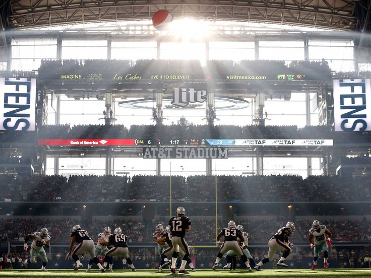 You may never see a more serene football photo than this one.