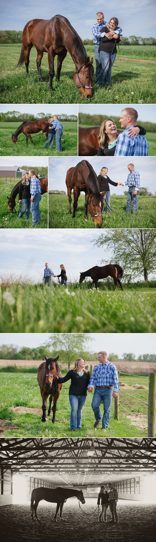 Jessica Miller Photography Engagement photography with horse