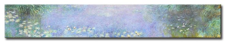 MU_MN2086 _ t_Monet _ The Water lillies _ Morning / Cuadro Arte Famoso, lirios por la manana