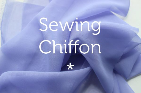 Sewing with chiffon. Very good advice. Must read.