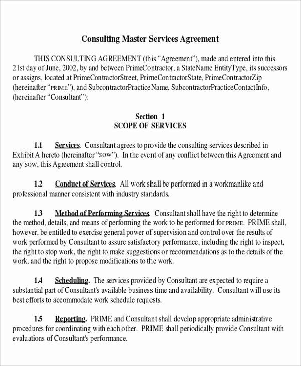 40 Master Service Agreement Template In 2020 Templates