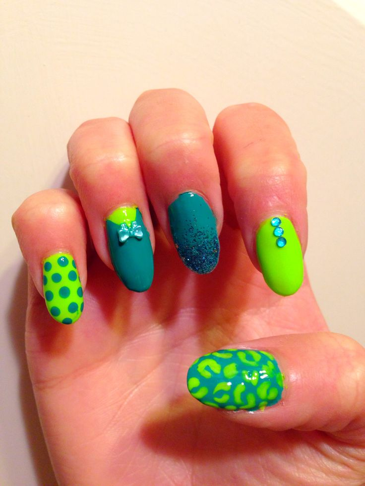 Miscellaneous Teal & Lime