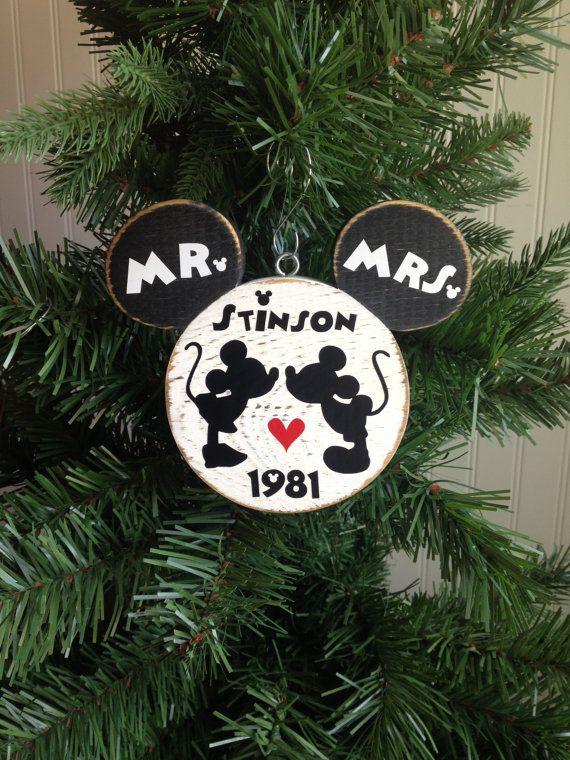 Disney Wedding Mr. Mrs. Mickey Minnie Bride by CelebrateOrnaments, $16.50