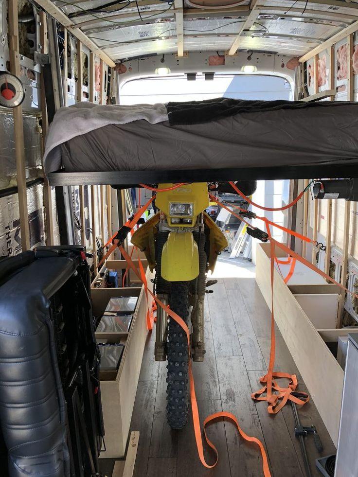 Camper Van DIY Bed Lift VANCRAFTERS in 2020 Bed lifts