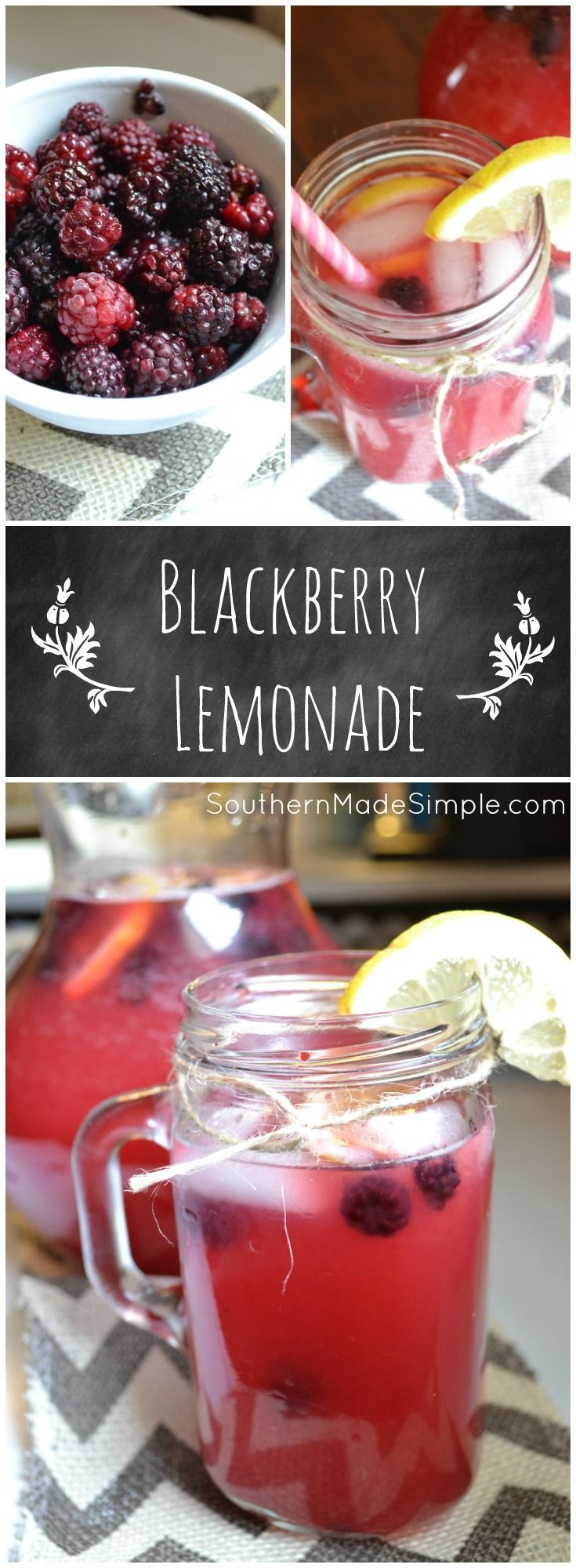 Refreshing Blackberry Lemonade - A PERFECT summertime treat! (This would be so good with gin!)