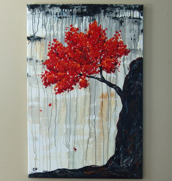 Rainy Tree of Life Original Oil Painting by sheriwiseman on Etsy, $179.00