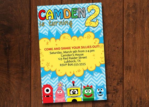 986 best yo gabba gabba birthday party images on pinterest | yo, Birthday invitations
