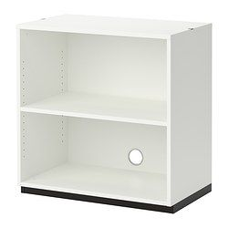 IKEA - GALANT, Shelf unit, white, , 10-year Limited Warranty. Read about the terms in the Limited Warranty brochure.Suitable for use in the middle of a room since it is finished on the back.The storage unit stands evenly on uneven floors with the adjustable feet.Space behind the shelves makes it easy to collect and lead cords and cables to the cord outlet in the back.You can adjust your storage according to your needs, as the shelves are adjustable.You can make optimal use of wall space and…