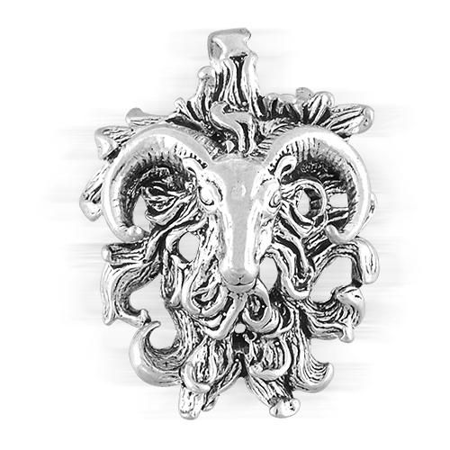 Sterling Silver Aries The Ram March April Zodiac Pendant