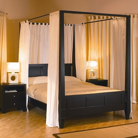 Canopy beds are awesome. It's like sleeping in a tent every night.