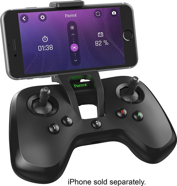 Parrot - Flypad Remote Controller for Select Parrot Drones - Black