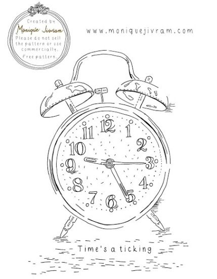 Free pattern: Time's a-ticking | Needlework News | CraftGossip.com