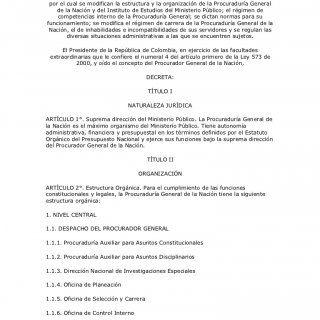 Presidencia de la República DECRETO NUMERO 262 DE 2000 (febrero 22) por el cual se modifican la estructura y la organización de la Procuraduría General de l. http://slidehot.com/resources/decreto262.63294/