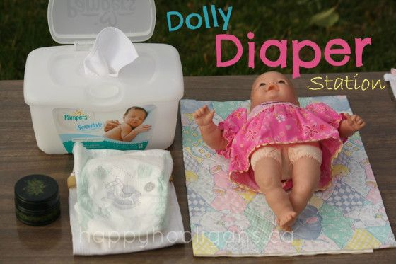 doll diaper station - hours of pretend play (happy hooligans)