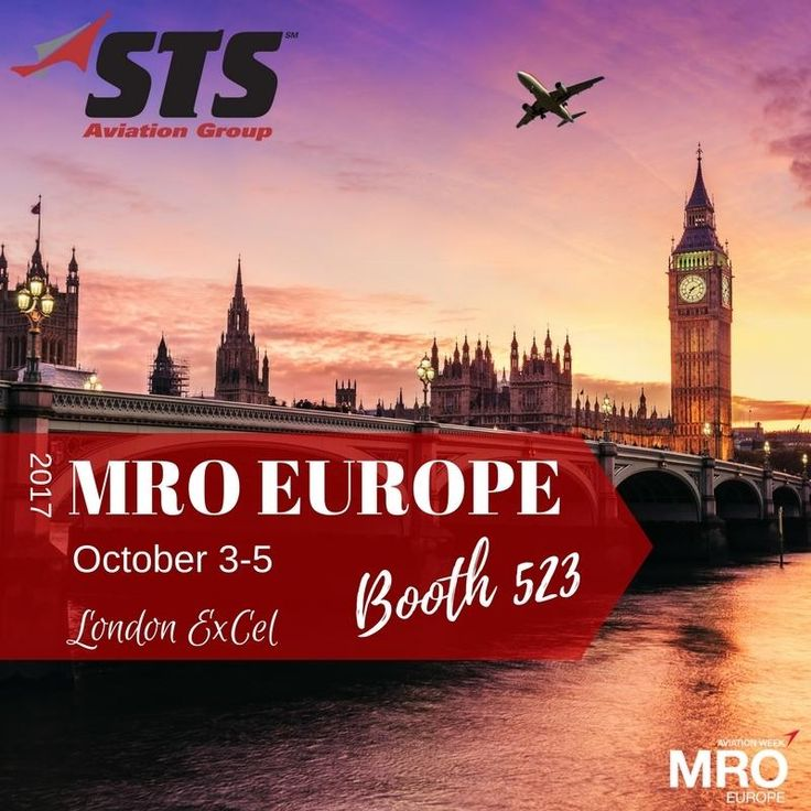 STS Aviation Group  is headed to London next week for MRO Europe 2017.  Since last year, STS has added four new divisions, new OEM product lines and so many other service capabilities designed to help get you off the ground and back in the sky.  If you're attending this year's event, be sure to fly by Booth 523 to learn more about STS and the exciting new services we now provide to customers all over the world!  #MROE #AvMRO