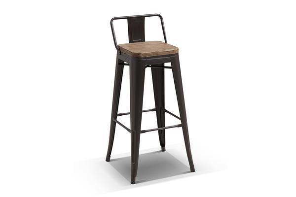 Tabouret De Bar Industriel A Dossier Ta06 En 2020 Tabouret De Bar Industriel Chaise De Salle A Manger Et Tabourets De Cuisine Du Bar