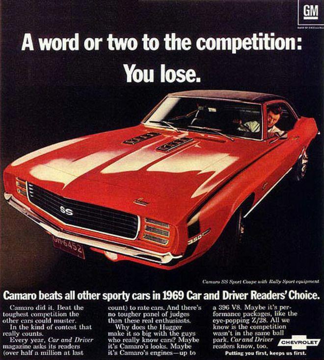 Camaro Ss 1969 >> 1969 Chevy Camaro SS Ad | Car Ads | Pinterest | Camaro SS, Ads and Cars