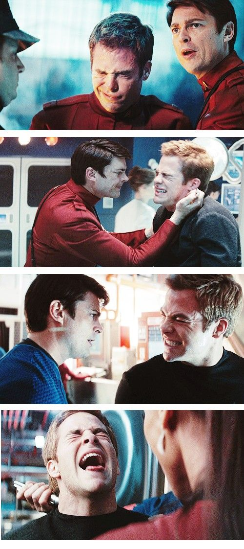 Is it horrid that I absolutely LOVE seeing Kirk in pain? I just hate arrogant bad-boys... Idk.