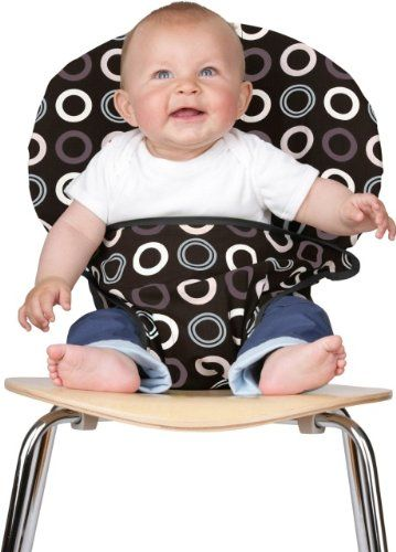The Washable and Squashable Travel High Chair in Chocolate Chip