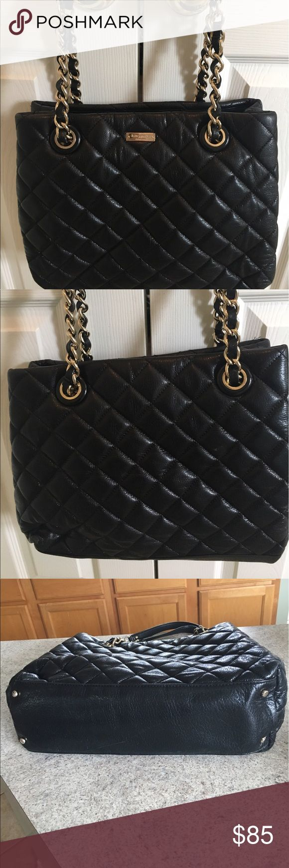 Kate Spade MaryAnn Gold Coast purse Black Kate Spade purse, great condition. Light stains on the inside of the purse from normal use, see last photo for detail. Outside has no damage. kate spade Bags Shoulder Bags