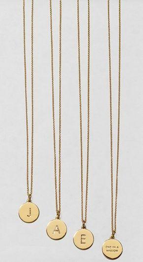Initial pendant necklaces: Cute gift idea for bridesmaids!