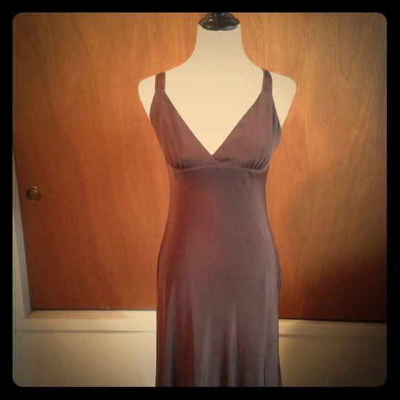 J Crew Bridesmaid Dress 100% silk Espresso J Crew Bridesmaid dress. Worn once, in great shape! Size P4 J. Crew Dresses