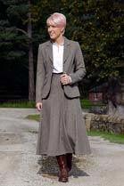 Anna Lascata Georgina Long Tweed Skirt