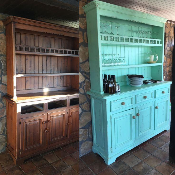 Customizado de armario de pino tipo provenzal para darle un aire más vintage y actual. Realizado por Alexsandra.