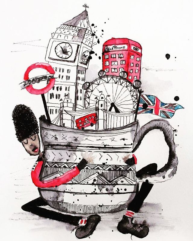 London lover. Tea. England. Bus. Red. Tower. Big Ben