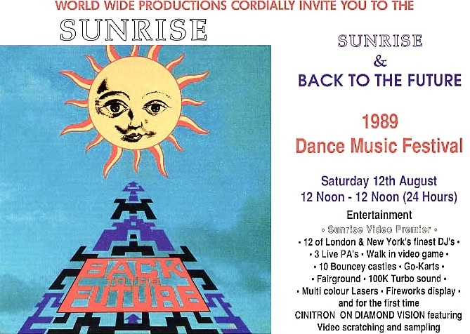 Sunrise Back To The Future 1989 Early House Music