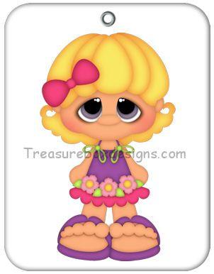 Little Gems (Summer Girl) - Treasure Box Designs Patterns & Cutting Files (SVG,WPC,GSD,DXF,AI,JPEG)