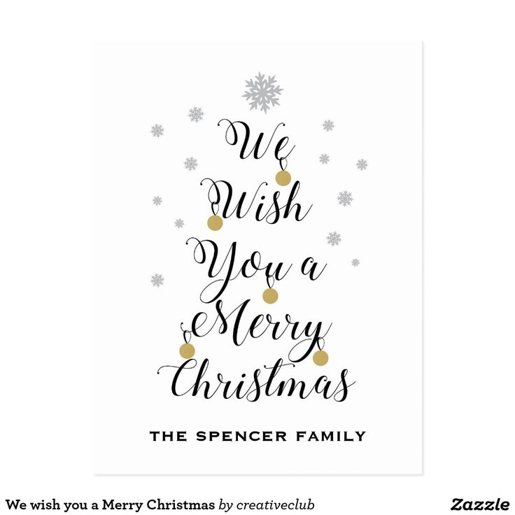 We wish you a Merry Christmas #merrychristmas #happyholidays #greeting #card
