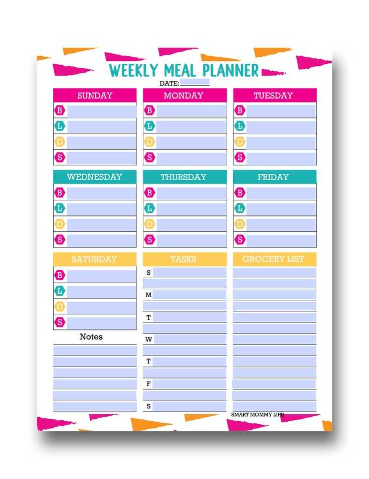 Free editable printable meal planner template for easy