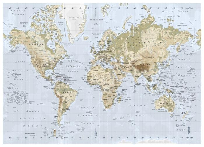 PREMIÄR world map.