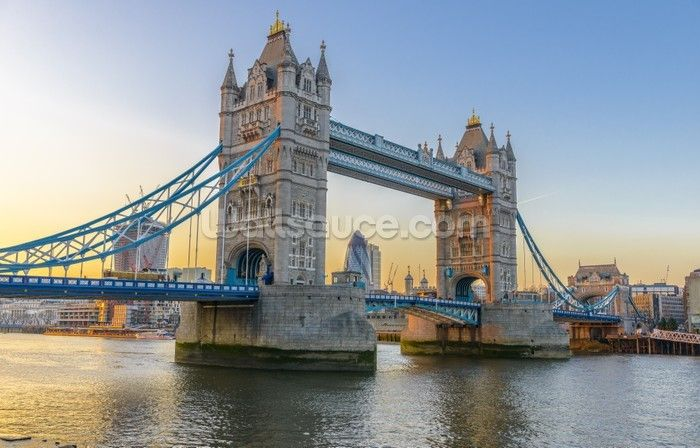 London Tower Bridge at Sunset wall mural
