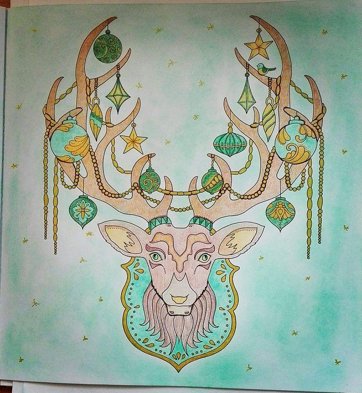 Finished: 20. 1. 2018; Source: Johanna's Christmas; Medium: Colorino Artist, gel pen, Gioconda hard pastel; limited palette challenge (Capricorn)
