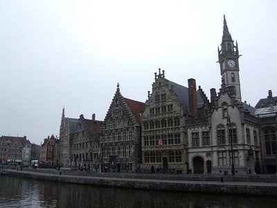 The Graslei and Korenlei.  Ghent is such a wonderful city!