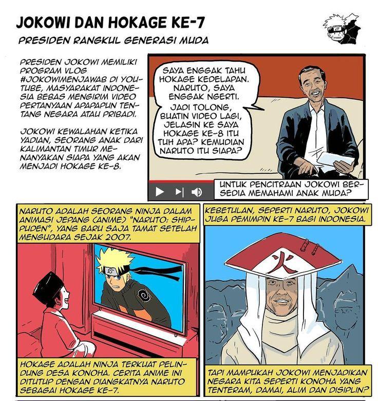 Jokowi disamakan dengan Naruto sama-sama presiden / hokage ke-7. Cerita lengkap di beritagar.id/kartun #komikberita #komik #komikindonesia #beritagarid