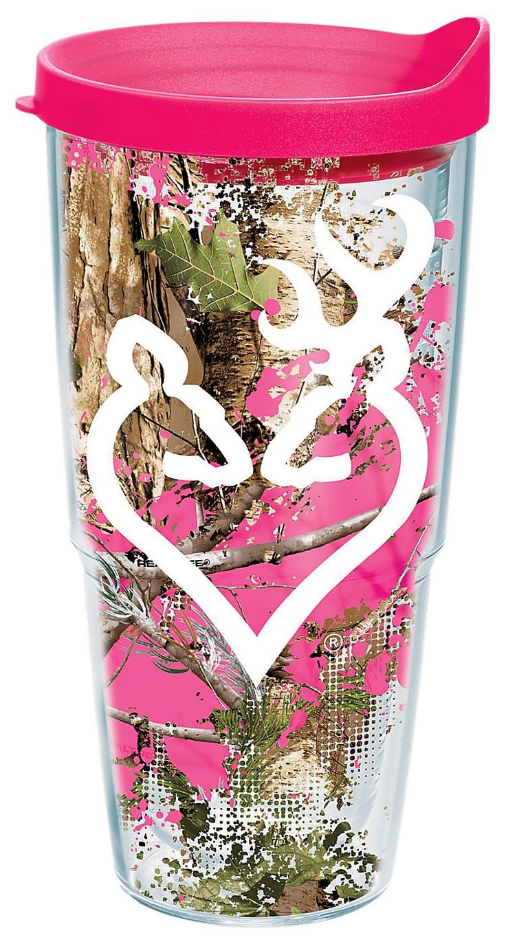 Tervis Tumbler Browning Buckmark Splatter Insulated Wrap w​ith Lid | Bass Pro Shops #Valentinesdaygifts #giftsforher #pinkcamo