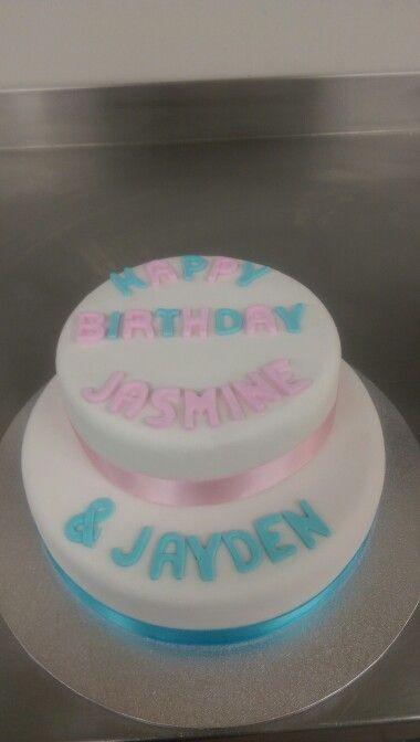 Twins birthday cake
