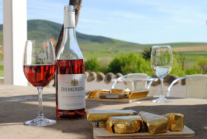 Diemersdal Sauvignon Rose with cheese.