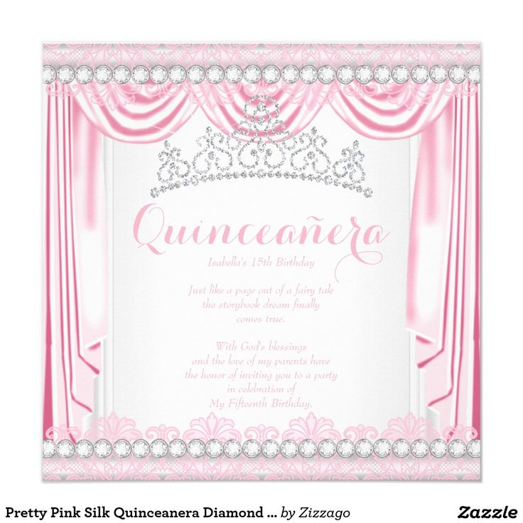 130 best Quinceanera Birthday Invitations images on Pinterest